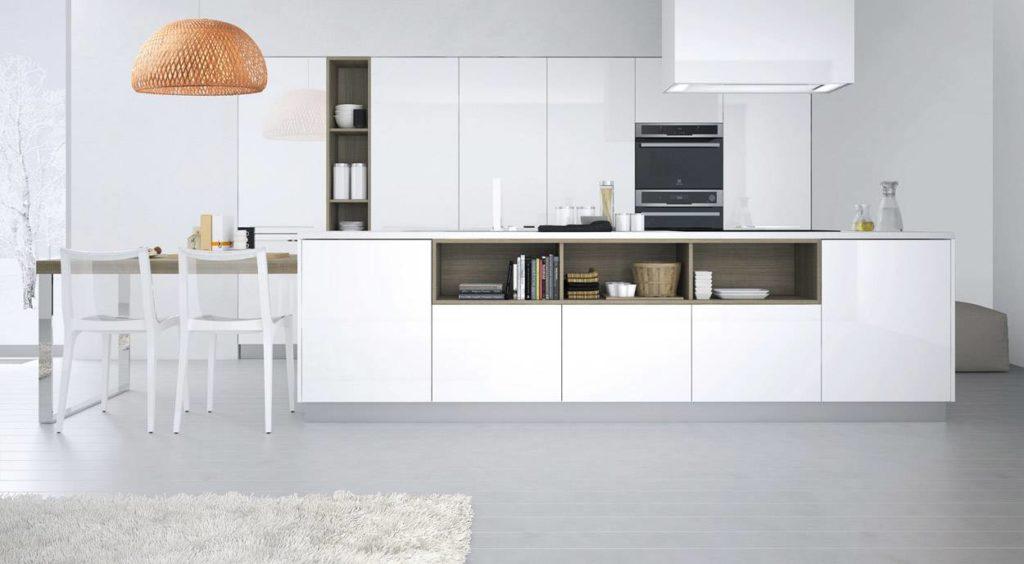 modern konyhabútor fehér színben